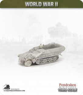 10mm World War II: German - Sd.Kfz 251/1 (Ausf D) (camouflage)