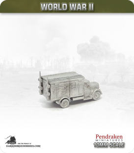 10mm World War II: German - Opel Blitz Radio Truck, Kfz.305/22