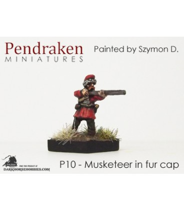 10mm 16th C. Polish: Musketeer Fir Cap - Firing
