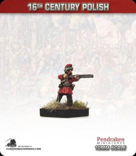 10mm 16th C. Polish: Musketeer Fir Cap - Firing