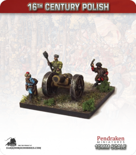 10mm 16th C. Polish: Heavy Gun and Crew