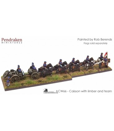 10mm American Civil War: Caisson with Limber and Team
