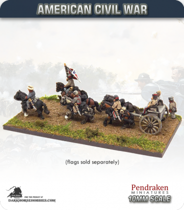 10mm American Civil War: Limber with Team and Out-Riders