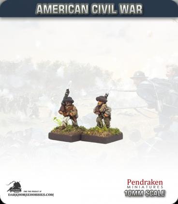 10mm American Civil War: Confederate Foot - Marching (right shoulder shift)