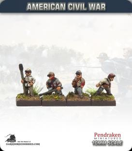 10mm American Civil War: Union Artillery Crew - Aiming