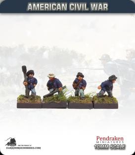 10mm American Civil War: Confederate Artillery Crew - Aiming