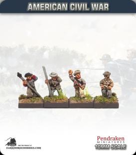 10mm American Civil War: Confederate Artillery Crew - Firing