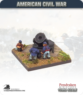 10mm American Civil War: Siege Mortar with Crew