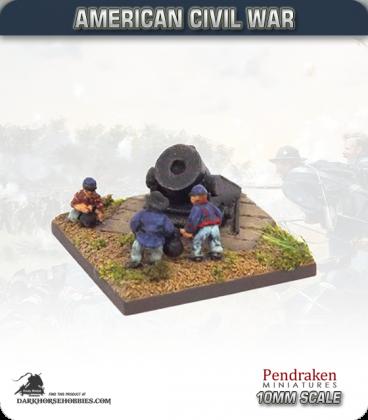 10mm American Civil War: Siege Mortar with Crew
