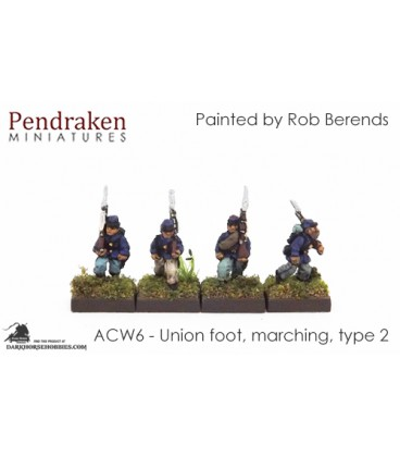 10mm American Civil War: Union Foot - Marching (type 2)