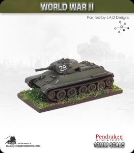 10mm World War II: Soviet - OT-34 Flamethrower Tank