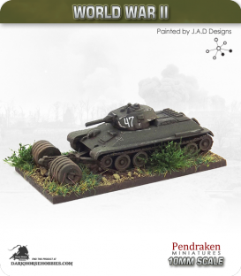 10mm World War II: Soviet - PT-34 Mine Roller
