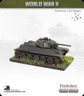 10mm World War II: Soviet - T-34/76 E Model 1943 Medium Tank
