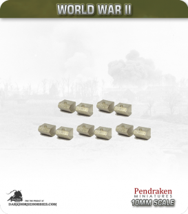10mm World War II: Soviet - Square Fuel Tanks for T-34's (early-style)