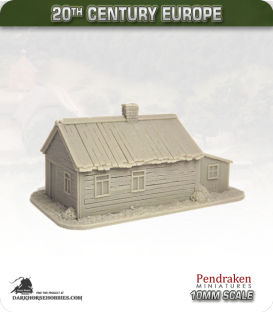 World at War (10mm): Eastern Front - Russian House with Shed