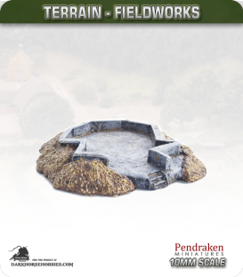 Terrain Fieldworks (10mm): Open 88 or Quad Flak Bunker