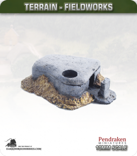 Terrain Fieldworks (10mm): Machine Gun Bunker (type 1)