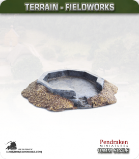 Terrain Fieldworks (10mm): Open AA Bunker (hexagonal)