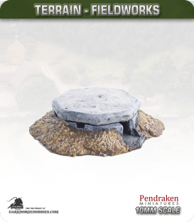 Terrain Fieldworks (10mm): Machine Gun Bunker (type 2)
