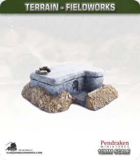 Terrain Fieldworks (10mm): Tobruk Type MG Bunker (type 1)