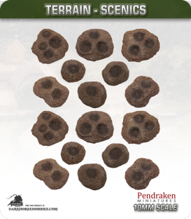 Terrain Scenics (10mm): Shell Craters 16 Pack (asstd sizes)
