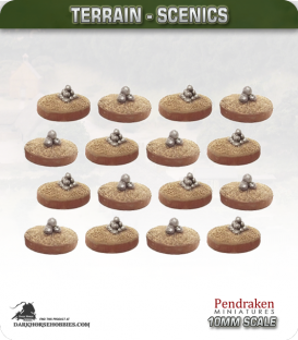 Terrain Scenics (10mm): Artillery Markers Pack
