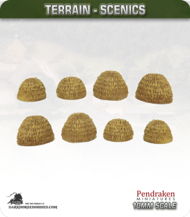 Terrain Scenics (10mm): Haystacks