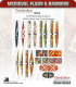 10mm Medieval (Flags/Banners): Swiss-Burgundian Flags 1