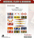 10mm Medieval (Flags/Banners): Swiss-Burgundian Flags 3