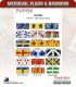 10mm Medieval (Flags/Banners): 100 Year War French Flags