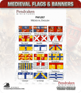 10mm Medieval (Flags/Banners): Medieval English Flags