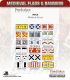 10mm Medieval (Flags/Banners): Medieval Scots Flags