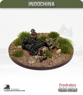 10mm Indochina: 75mm Pack Howitzer with Crew