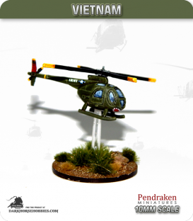 10mm Vietnam: Loach Recon Helicopter