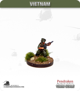 10mm Vietnam: Australian - Infantry with SLR - Advancing