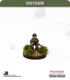 10mm Vietnam: Australian - Infantry with SLR - Advancing II