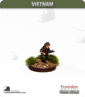 10mm Vietnam: Australian - Infantry with M16 - Advancing