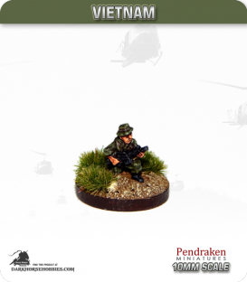 10mm Vietnam: Australian - Infantry with M16 - Kneeling
