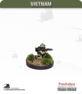 10mm Vietnam: NVA/VC - RPG-7 Gunner in Pith Helmet - Kneeling
