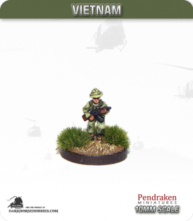 10mm Vietnam: NVA/VC - Riflemen in Pith Helmet with AK-47 - Running