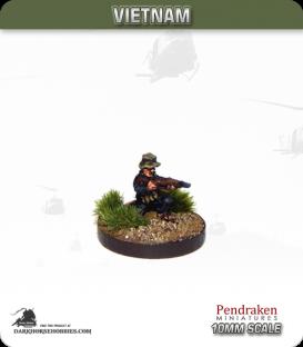 10mm Vietnam: NVA/VC - Riflemen in Bush Hat - Firing (kneeling)