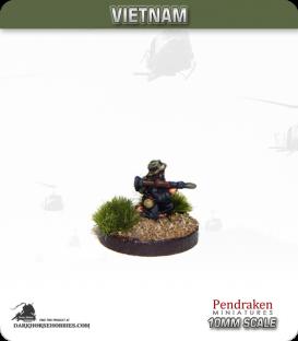 10mm Vietnam: NVA/VC - RPG gunner, kneeling, RPG-7, bush hat