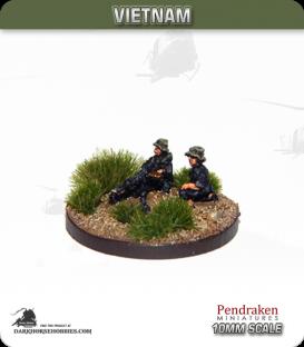 10mm Vietnam: NVA/VC - MMG 7.7mm Type 92 Team in Bush Hat