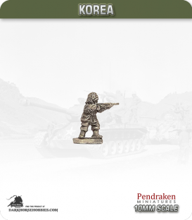 10mm Korea: US - Infantry with Rifle - Standing / Firing (winter)