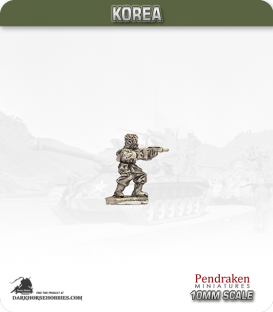 10mm Korea: US - Infantry with Carbine - Standing / Firing (winter)