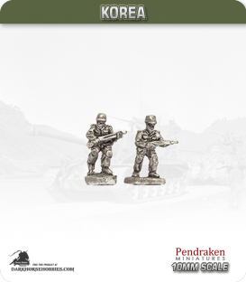 10mm Korea: North Korean - Infantry with Rifle - Advancing