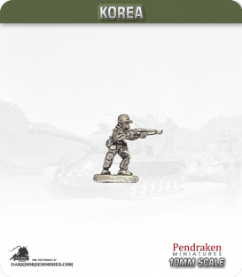 10mm Korea: North Korean - Infantry with Rifle Standing / Firing