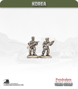 10mm Korea: South Korean - Infantry with Rifle - Advancing