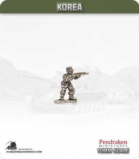 10mm Korea: South Korean - Infantry with Rifle Standing / Firing