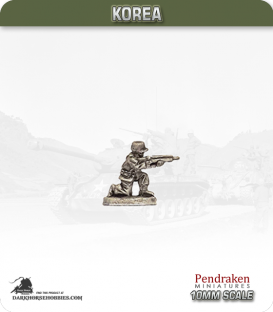 10mm Korea: South Korean - Infantry with Rifle - Kneeling / Firing